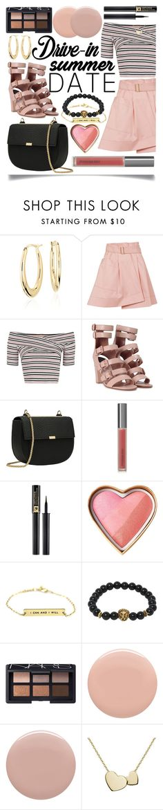 """""""Summer Date: The Drive-In"""" by ittie-kittie on Polyvore featuring Blue Nile, Balenciaga, Topshop, Laurence Dacade, Perricone MD, Lancôme, NARS Cosmetics, Givenchy, Deborah Lippmann and DateNight"""