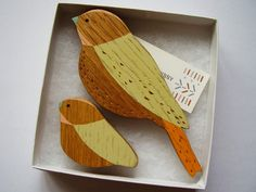 Wooden Wall Birds - Mother & baby sets - Mothers Day gift. £20.00, via Etsy.