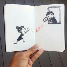 15 Ideas drawing of love doodles Pencil Art Drawings, Doodle Drawings, Art Drawings Sketches, Doodle Art, Cute Couple Drawings, Love Drawings, Easy Drawings, Cute Sketches Of Couples, Cute Love Sketches