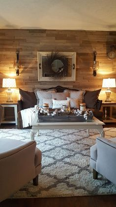 What a welcoming rustic living room.  So warm and inviting