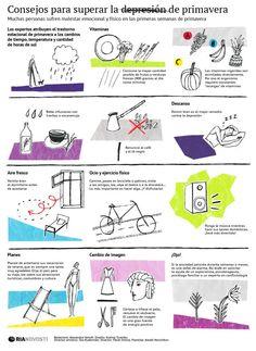 Consejos para superar la depresión de primavera #infografia