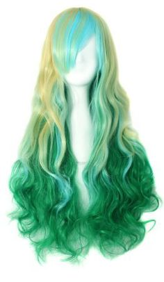 """Anime Long Wavy/Straight-Anime Wig-24"""" Inch-Color-Blonde/Blue/Green-Womens sold by jadeadesigns. Shop more products from jadeadesigns on Storenvy, the home of independent small businesses all over the world."""