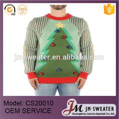 Christmas tree design for unisex oem knitting sweater wholesale ugly christmas sweaters