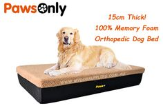 Large Brown Premium Memory Foam Dog Bed Big Dogs, Large Dogs, Junior Bed, Support Dog, Orthopedic Dog Bed, Dog Supplies, Good Night Sleep, Memory Foam, Your Dog