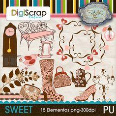 Sweet.- 18 elementos y 2 papeles