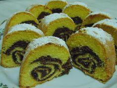 Rozi Erdélyi konyhája: Piskóta tekercses kuglóf Cukor, Muffin, Pound Cakes, Bread, Breakfast, Food, Morning Coffee, Brot, Essen