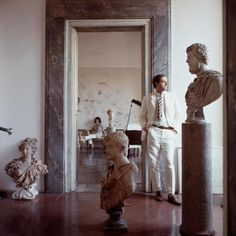 Cy Twombly at home by Horst P. Horst, 1966, Rome