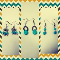 Spring earrings!! Contact me: pulqueritas@gmail.com Visit Pulqueritas on Pinterest or Instagram!!