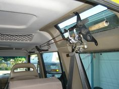 roof rod holders | Home made fishing pole holder