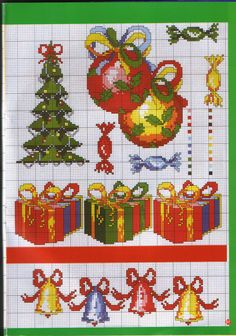 Cross stitch Christmas *<3* Point de croix Noël