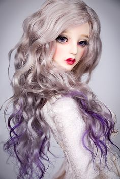 Violet Moon | Beautiful curls with three colors ombre for yo… | Flickr