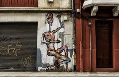 Il donne vie au street art en créant de sublimes GIF animés