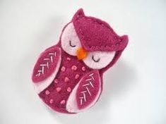 felt owl brooch - Google Search