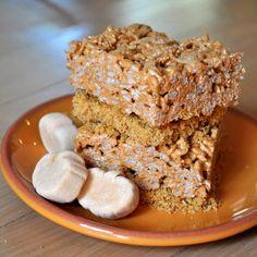 pumpkin pie rice krispie treats (use reg marshmallows w/ pumpkin pie spice)