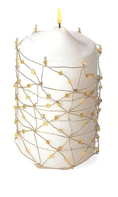 Jewelry Design - Beaded Candle Holder with Swarovski Crystal Beads and Wire - Fire Mountain Gems and Beads