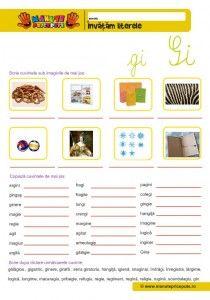 Grupuri de litere: che, chi, ghe, ghi, ce, ce, ge, gi