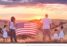 Patriotic Photography Inspiration - Portrait by Triple the Sugar Photography via iHeartFaces.com