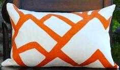 Beautiful Decorative Pillow Cover12x18ZIMBA Orange by NelsonDesign, $42.00