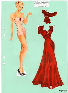 hasel * 1500 paper dolls at International Paper Doll Society by artist Arielle…