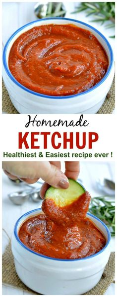 Homemade ketchup – my toddler eats anythings dips in this ! Sugar free only vegg… Homemade ketchup – my toddler eats everything in it! Sugar free only vegetables! Ketchup, really! Clean Eating Diet, Clean Eating Recipes, Easy Healthy Recipes, Low Carb Recipes, Healthy Snacks, Vegetarian Recipes, Easy Meals, Healthy Eating, Cooking Recipes