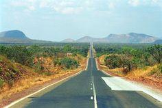 Wide open road, somewhere in Australia