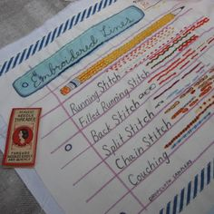 Amazing little sampler thing, by drop cloth: Penmanship Paper