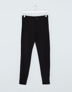 BSK cuffed plush trousers - Woman - Bershka Egypt