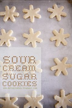 Sour cream sugar cookies!