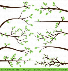 Branch Silhouettes SVGs Limbs and Branches Cutting by PinkPueblo, $8.00