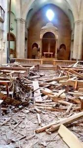 Aleppo 2015: chiesa maronita dopo il bombardamento di Pasqua