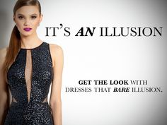 Show Some Skin with Illusion Dresses!  Command the season with a trend that unveils a touch more skin under a touch less fabric.  Swanky illusion has made its mark on fashion, opting for a glamorous display of backs, bodices, and necklines through sheer textures.  Effortless for fall and winter, cover up in this alluring, yet appropriate look for weddings, cocktail parties, or any other formal affair.  Plunge into transparent territory with a fitted sequin frock that's guaranteed to light up…