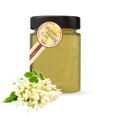 Bio-Imkerei Blütenstaub Bio-Blütenhonig mit Akazie 250g - Qualität Gold Auszeichnung - Unser Akazienhonig ist ein milder klarer Honig. Der Geruch des Akazienhonig verströmt sofort intensiven Geruch nach blühenden Akazienwäldern und milden Frühsommertage im Weinviertel. Einfach herrlich...  #blütenhonig #akazie #honig #biohonig #akazienhonig #rundumdiebiene #blütenstaub #bioimkerei #niederösterreich Mugs, Tableware, Gold, Wine, Simple, Products, Dinnerware, Tablewares, Mug