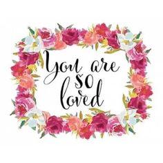 You Are So Loved Wreath Canvas Art - Tara Moss (22 x 28)