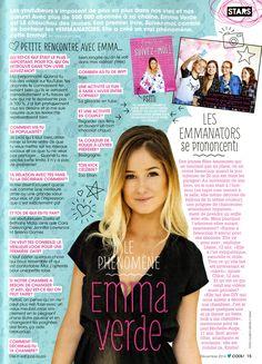 Tout le monde luv Emma! Trouver la dans le magasine COOL! Emma Verde, Cool Stuff, Celebrities, Magazines, Ann, Creativity, Random, Showgirls, Board