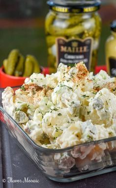 This Easy Picnic Potato Salad Recipe is a simplified version of the classic, traditional American potato salad that is popular for picnics and potlucks. It is a perfect make ahead dish.