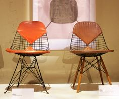 Wire, Vinyl & Wood Chairs