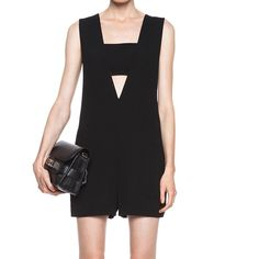 T by Alexander Wang Bandeau Insert Poly Romper Gorgeous Alexander Wang Romper in Black, Size Small, Worn Once! Perfect for holiday parties, or dress down with sandals and a cardigan. T by Alexander Wang Other