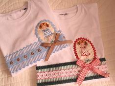"camisetas ""muñecas recortables"" / ""Abuela Aba"" - Artesanio"