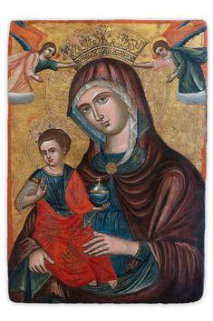 B&Facchini srl Antique Galerie Madonna, Tempera, 16th Century, Wood Paneling, Google Images, Restoration, Antiques, Painting, Icons
