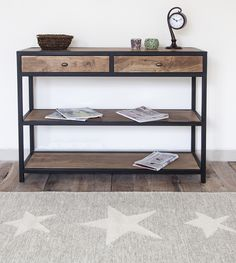 ALOHA Console table. Rustic style, lovely finish. Solid wood and metal.