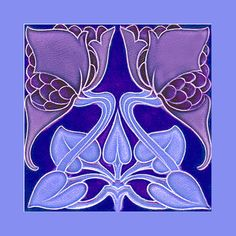 "Art Nouveau tile by Rhodes (1905-8) Courtesy Robert Smith, from his book ""Art Nouveau Tiles with Style"". Photoshopped by Catherine Hart."