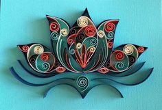 Quilled lotus flower by Grace U.