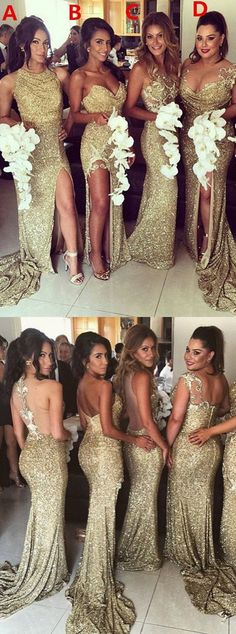 bridesmaid dresses, gold wedding party dresses, sparkle party dresses, sexy bridesmaid dresses, cheap wedding party dresses
