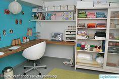 hobbyrum,pysselrum,ikea,hyllor,förvaring,hobbyförvaring,pysselförvaring,källare,arbetshörna