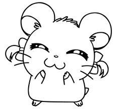 Cute Couple Drawings, Cute Kawaii Drawings, Cartoon Drawings, Animal Drawings, Cute Coloring Pages, Animal Coloring Pages, Coloring Books, Hamtaro, Dibujos Tattoo