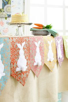 Pier 1's White Rabbit Mantel Scarf boasts adorable white bunny silhouettes sewn onto pastel-colored panels with a chevron edge. Each cottontail stands out, quite literally. There's no need to limit this fun piece to your mantel. You can also drape it from the edge of a table to dress up your Easter buffet.