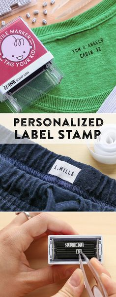 Sewing Gadgets Mine Stamp, discovered by The Grommet, makes it easy to personalize your belongings so you can keep what's yours. - Mine Stamp, discovered by The Grommet, makes it easy to personalize your belongings so you can keep what's yours. Sewing Hacks, Sewing Crafts, Sewing Projects, Sewing Tips, Learn Sewing, Sewing Tutorials, Diy Projects, Sewing Clothes, Diy Clothes