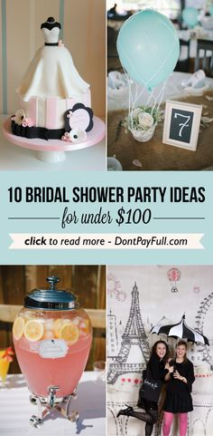 10 Bridal Shower Party Ideas for Under $100 #DontPayFull