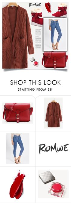"""""""Red boots!"""" by samra-bv ❤ liked on Polyvore featuring Balmain and Burberry"""