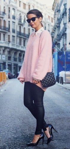 Fall/Winter Inspiration in Pink and Black.